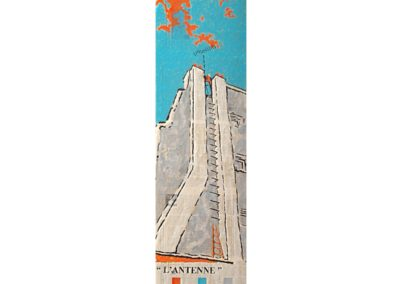 L'ANTENNE - 2005 – Acrylique sur papier marouflé sur bois - 150 x 45cm – Collection particulière