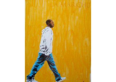 LA MARCHE – 2007 – Acrylique sur papier marouflé sur bois – 120 x 90 cm – Collection particulière