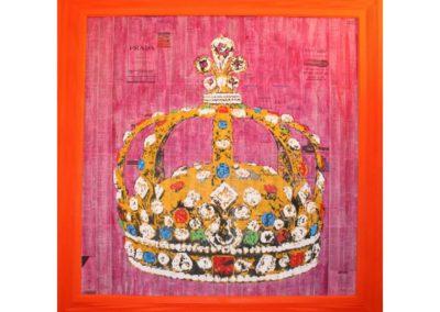 SOUVERAINETE - 2008 – Acrylique sur papier marouflé sur bois - 80 x 80 cm