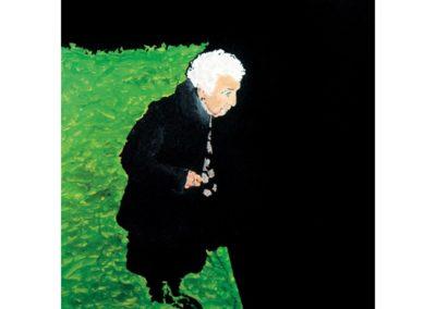 MALOU EN VERT – 2008 – Acrylique sur bois – 45 x 45 cm
