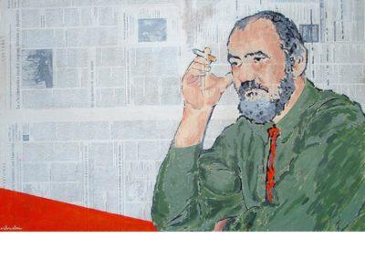 LE CHERCHEUR - 2009 - Acrylique sur papier marouflé sur bois – 60 x 90cm