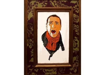 LA PEUR – 2010 – Acrylique sur bois – 65 x 40 cm – Collection particulière
