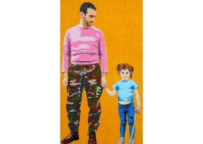 DETERMINISME ? – 2013 – Acrylique sur papier marouflé sur bois – 120 x 65cm – Collection particulière